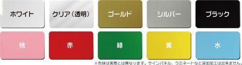 PVCカードの色