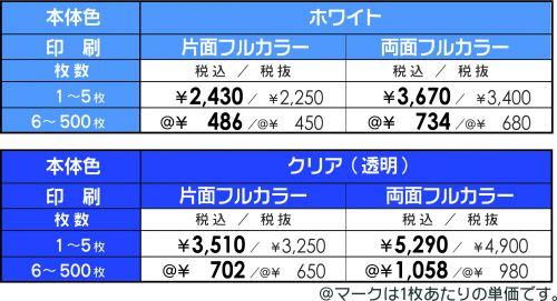 PVC社員証価格