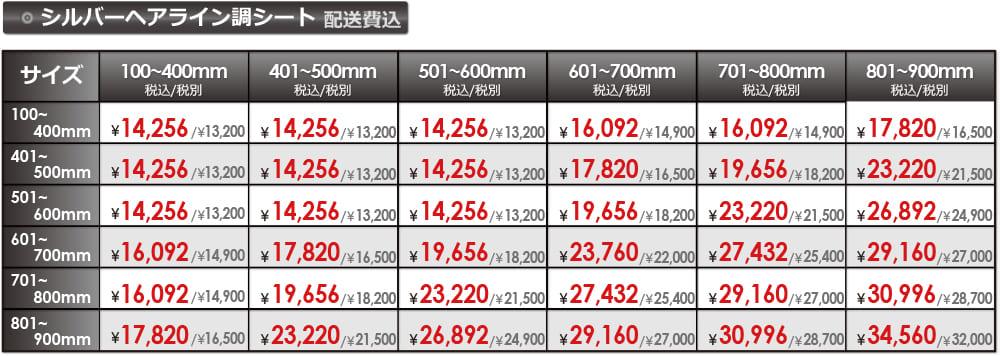 シルバーヘアライン調パネルの販売価格