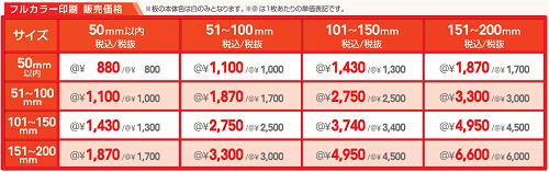プリントプレート 販売価格